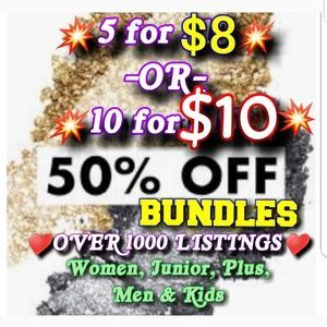 Other - 💥5/$8 or 10/$10💥CLOSEOUT SALE💥50% OFF BUNDLES💥